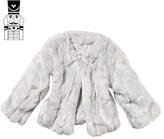 The Little Tailor Silver Birch Faux Fur Coat