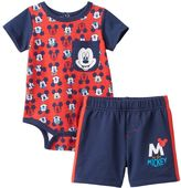 Disney Disney's Mickey Mouse Baby Boy Bodysuit & Shorts Set