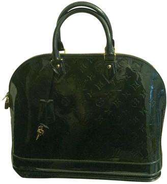 Louis Vuitton Alma Green Patent leather Handbags
