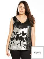 V By Very Curve Sequin Cami - Pewter