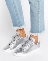 adidas Silver Metallic Stan Smith Sneakers