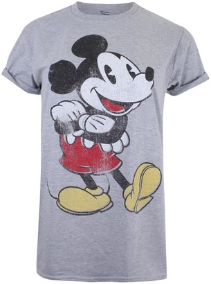 Disney Women's Mickey Mouse Vintage T-Shirt
