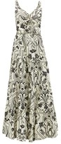Johanna Ortiz Architecture Floral-print Cotton Maxi Dress - Womens - Cream Multi