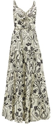 Johanna Ortiz Architecture Floral-print Cotton Maxi Dress - Cream Multi