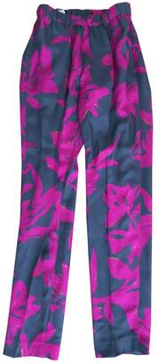 Dries Van Noten Multicolour Silk Trousers