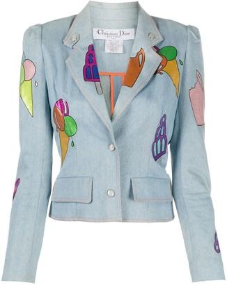 Christian Dior Pre-Owned Ice Cream Print Denim Jacket