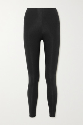 Skin Calypso Stretch Organic Pima Cotton-jersey Leggings - Black