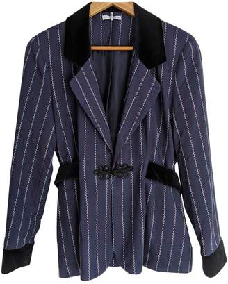 Ganni Navy Polyester Jackets