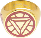 Iron Man FINE JEWELRY Marvel Arc Mens Two-Tone Stainless Steel Ring