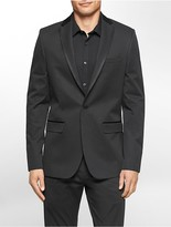 Calvin Klein Slim Fit Satin Trim Dobby Jacket