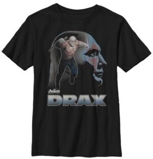Fifth Sun Marvel Big Boys Infinity War Drax Big Head Profile Short Sleeve T-Shirt