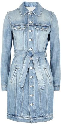Givenchy Blue Belted Denim Shirt Dress