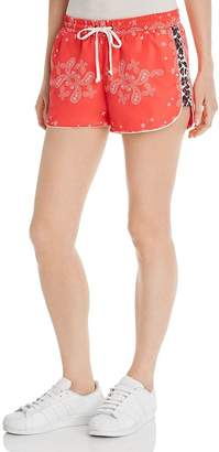 Pam & Gela Windbreaker Bandana Print Shorts