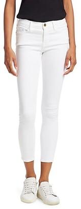 Frame Le Color Mid-Rise Crop Skinny Jeans