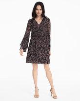 White House Black Market Scattered Print Boho Dress