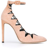 Giuseppe Zanotti Design cut-out ankle strap pumps - women - Leather/Suede - 37.5