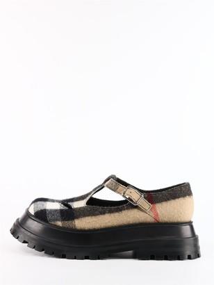 Burberry T Shoes Tartan Wool