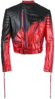 Haider Ackermann metallic biker jacket