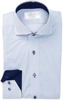 Lorenzo Uomo Cutaway Print Trim Fit Perfect Dress Shirt