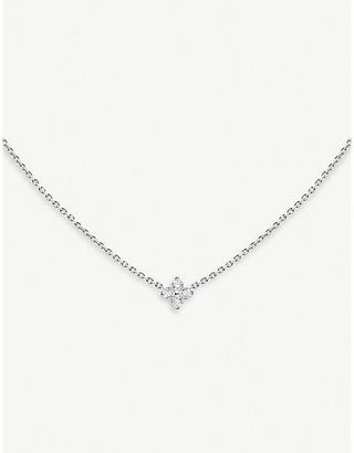 Selfridges Redline 18ct white-gold and diamond star necklace