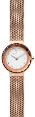 Skagen Leonora Rose Gold Mesh Bracelet Watch, 25mm