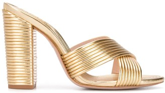 Schutz Ribbed Backless Mules