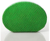 Lauren Merkin Green Embossed Leather Rectangular Clutch