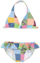 Ralph Lauren Patchwork Two-Piece Swimsuit, 2T-3T