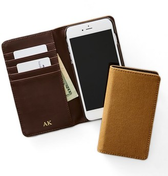 Mark And Graham Men's Leather RFID iPhone Wallet Folio
