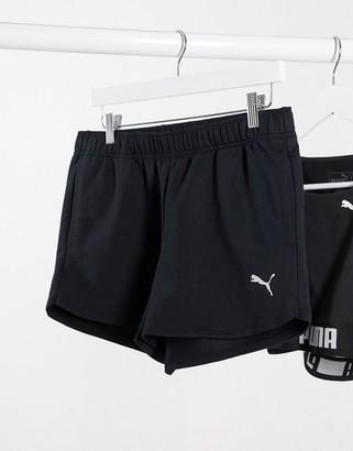 Puma Training shorts in black with logo