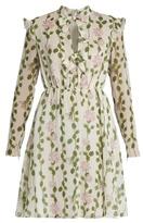 Giambattista Valli Floral-print long-sleeved silk-chiffon dress