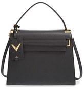 Valentino 'My Rockstud' Grainy Leather Satchel - Black