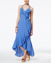 Shift Juniors' Ruffled Wrap Dress, Created for Macy's