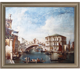 A&B Home Grand Canal With Gondolas And The Rialto Painting