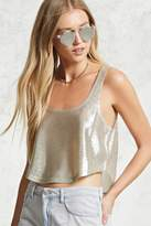 Forever 21 Metallic Cropped Tank Top