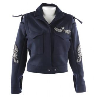 Ash Blue Wool Jacket for Women