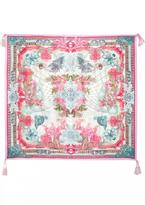 Johnny Was Silk Color Currency Scarf