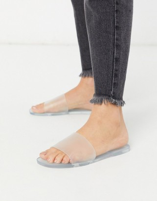 Raid Amara jelly slides in clear frosted