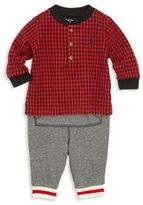 Ralph Lauren Baby's Two-Piece Henley Tee & Jogger Pants Set