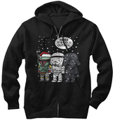 Fifth Sun Star Wars Black 'Boba It's Cold Outside' Zip-Up Hoodie - Adult