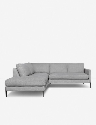 Lulu & Georgia Allisen Left-Facing Bumper Sectional Sofa, Light Gray