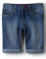 Lands' End Little Girls Denim Bermuda Shorts-Medium Wash