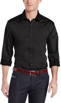 Perry Ellis Men's Big-Tall Long Sleeve Twill Noniron Medium Spread Collar Shirt
