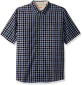 Wrangler Men's Authentics Short Sleeve Classic Plaid Shirt