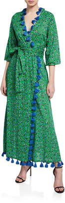 Rhode Resort Lena Tassel-Hem Wrap Dress