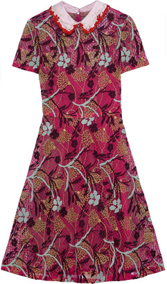 Valentino Embroidered Cotton-blend Guipure Lace Dress