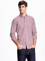 Old Navy Slim-Fit Heathered-Plaid Shirt for Men