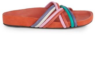 Isabel Marant Hellya Leather Slides