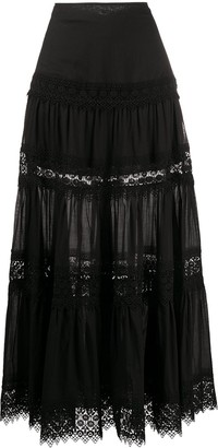 Charo Ruiz Ibiza Ruth embroidered maxi skirt