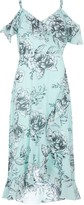 Wallis Mint Floral Print Ruffle Hem Midi Dress
